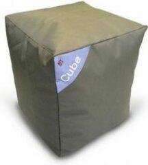Poef zitzak Cube's DELUXE Kaki Twill Sit On It ....and Joy !!