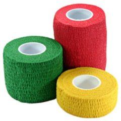 Elastisches Baumwolltape grün, rot, gelb