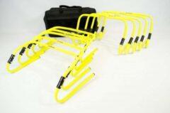 Gele Ciclón Sports hordenset verstelbaar - verstelbare horden - horden voetbal - 10 stuks met gratis tas