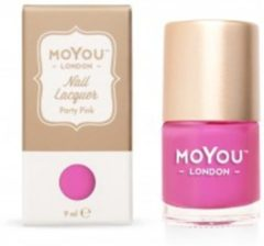Roze Mo You London MoYou London Stempel Nagellak - Stamping Nail Polish 9ml. - Party Pink