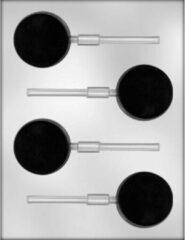 Transparante Country kitchen Chocoladevorm Lollie Rond 5,5 cm