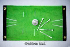 Groene Acu-Strike Golf Impact Training Mat, Train uw balcontact, outdoor