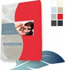24-Bedding Duopak (2 stuks) Hoeslaken topper topdek Jersey elastaan - Rood - 90x220 cm