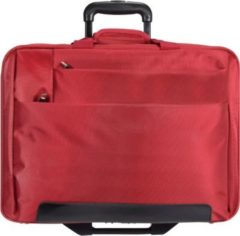 2-Rollen Trolley Business I 44,5 cm Laptopfach Dermata rot