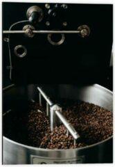 Grijze KuijsFotoprint Dibond - Koffiebonenmachine - 40x60cm Foto op Aluminium (Wanddecoratie van metaal)
