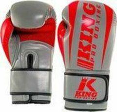 Grijze King PRO boxing (kick)bokshandschoenen KPB/BG REVO-3 14oz