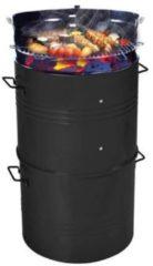 Zwarte SenS-Line Barrel BBQ XL houtskoolbarbecue