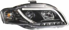 Universeel Set Koplampen incl. DRL 'Light-Bar' Audi A4 B7 2005-2008 - Zwart