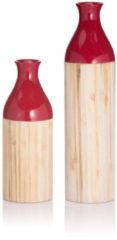 HSE24 Deko-Vase, 2tlg. - Rot