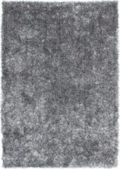 Diamond Soft Rond Vloerkleed Grijs Hoogpolig - 240x330 CM