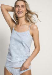 Hessnatur Damen Spaghetti-Shirt PureLUX aus Bio-Baumwolle – blau – Größe 36