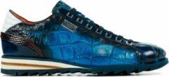 Blauwe Harris Mannen Leren Sneakers - Tributo - 42.5