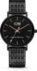 CO88 Collection Watches 8CW 10075 Horloge - Stalen Band - Ø 36 mm - Zwart