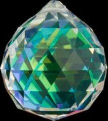 Yogi & Yogini Regenboogkristal bol donker parelmoer AAA kwaliteit - 5 cm (2 stuks) - S