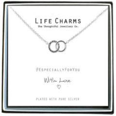 Life Charms Ketting met Giftbox Silver Crystal Rings