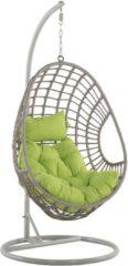 Beliani Hangstoel met standaard rotan taupe ARPINO