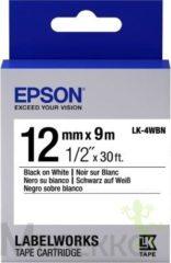 Epson Standard Tape - LK-4WBN Std Blk/Wht 12/9