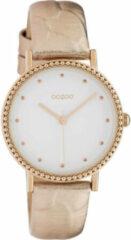 OOZOO Timepieces Horloge Rosé Goud Croco/Wit | C10423