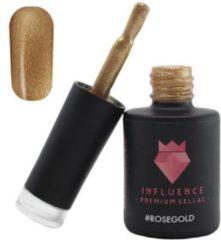 Goudkleurige Influence - Premium Gellac Influence Gellac #ROSEGOLD - UV / LED Gellak - Gel nagellak - Goud / Glitter / Roségoud - 10 ml