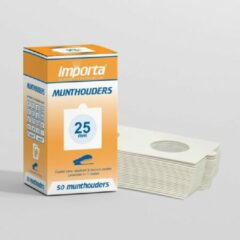 Witte Importa Munthouders om te nieten 25mm - 50 stuks