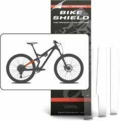 Transparante Bike Shield Bikeshield frame bescherming Stay shield voor achterbrug 3 pcs glossy protectie sticker