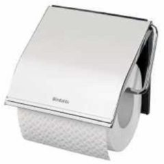 Brabantia ReNew Toiletrolhouder met klep - Brilliant steel