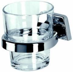 Geesa Standard Collection glashouder met gehard glas Chroom 917138-HG