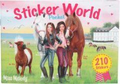 Miss Melody Stickerboek Meisjes 17 Cm Papier 136 Stuks