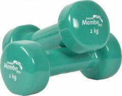 Mambo Max Mambo Dumbbells vinyl gecoat 2 kg groen/paar