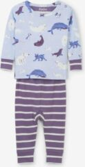 Paarse Hatley miejses 2-delige pyjama Polar Critters - 9-12 mnd