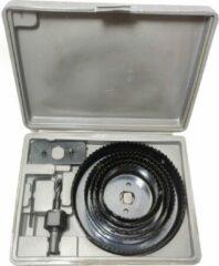 Merkloos / Sans marque Gatenzaag 8 delig Hole Saw set gereedschap box 64 76 89 102 en 127mm