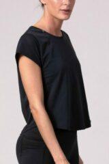 Zwarte REVIVE Sportswear REVIVE Seamless Sport - Yoga Shirt FAFE - licht gewicht - duurzaam