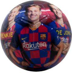Blauwe FC Barcelona FC Barcelona voetbal groot shiny de Jong maat 5