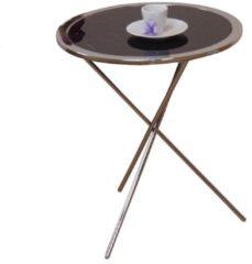 Möbel direkt online Moebel direkt online Beistelltisch Glastisch Metalltisch mit schwarzer oder weißer Glasplatte lieferbar