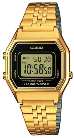 Afbeelding van Paarse Casio Collection LA680WEGA-1ER Horloge - Staal - Goudkleurig - Ø 30 mm (XS)