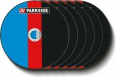 PARKSIDE® 6 slijpschijven voor haakse slijper Ø180 mm - Ook geschikt voor gangbare haakse slijpers