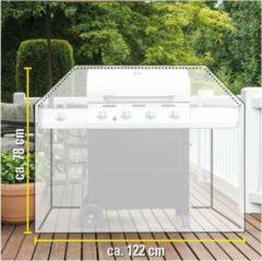 Kinzo Afdekhoes/beschermhoes rechthoekige barbecue/bbq 122 x 71 x 78 cm zwart - Afdekhoezen/beschermhoezen - Barbecuehoes - Barbecuebescherming