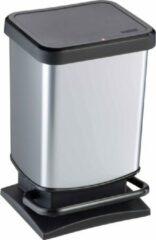 Zilveren Rotho Paso Pedaalemmer 20 l - 29,3 x 26,6 x 45,7 cm - RVS