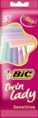 Bic Twin Lady - 5 stuks - Wegwerpscheermesjes x5 verpakkingen =25 stuks