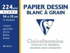 Witte Clairefontaine tekenpapier 'Blanc à Grain', 297 x 420 mm
