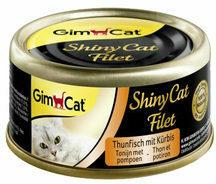 GimCat ShinyCat Filet - Tonijn met Pompoen - 24 x 70 gram