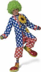 Gele ESPA - Lange clownsjas met stippen voor kinderen - 140 (10-12 jaar) - Kinderkostuums