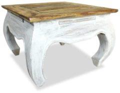 Bruine VidaXL Bijzettafel 50x50x35 cm massief gerecycled hout VDXL 244506