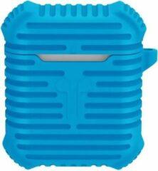 Merkloos / Sans marque Anti-lost Drop-Proof Silicone voor Apple AirPods - Blauw