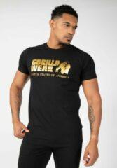Gorilla Wear Classic T-shirt - Zwart/Goud - 3XL