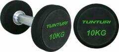 Zwarte Tunturi Pro PU Dumbbell Set 34 t/m 42 kg - 1 paar - Halterset