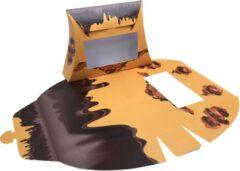 Gele Presentdoosjes.nl Presentdoosje vensterdoosje Chocolade: 20,5 x 4,9 x 14,5cm (10 stuks)