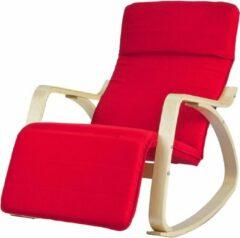 Simpletrade Schommelstoel | Comfortabel | Verstelbaar | Trendy | Rood