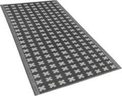Buiten-vloerkleed geometrisch patroon zwart 90 x 180 cm. ROHTAK