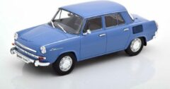 White box Skoda 1000 MB Blauw 1:24 WhiteBox